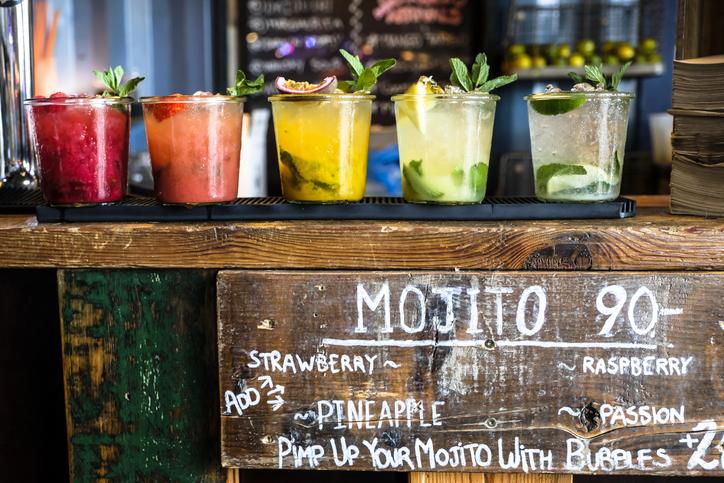 Tropical mojito stand in Barbados