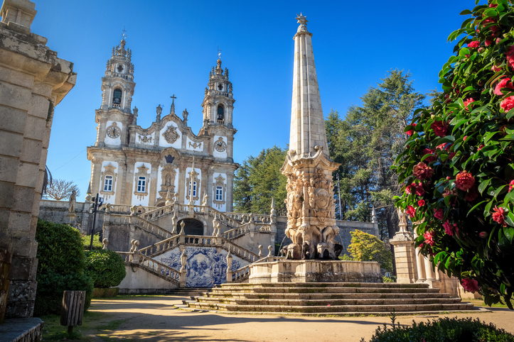 Our Lady of Remedies Sanctuary in Lamego, Portugal,