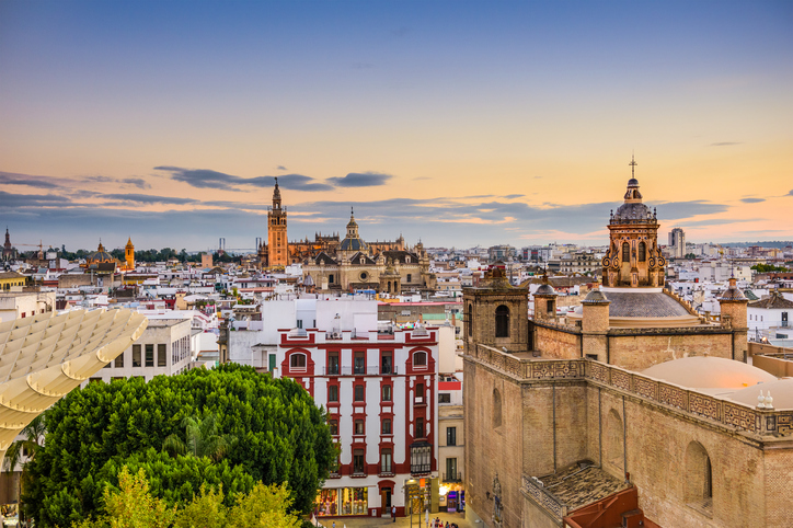 Seville, Spain old town skyline.