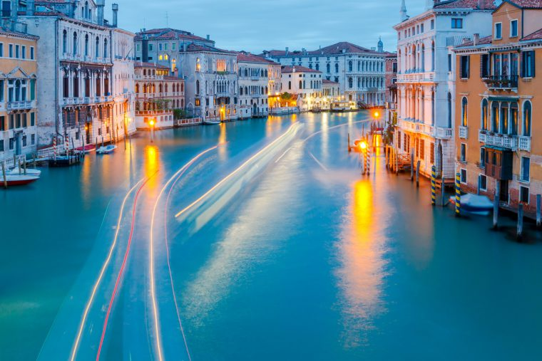 View of the Grand Canal. Viewing Venice on a budget.