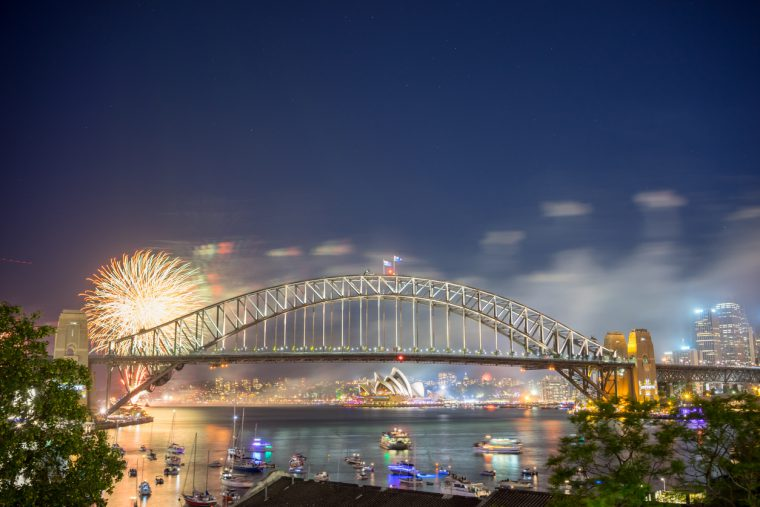 Sydney, New Year Eve Fireworks Show at the Harbour Bridge