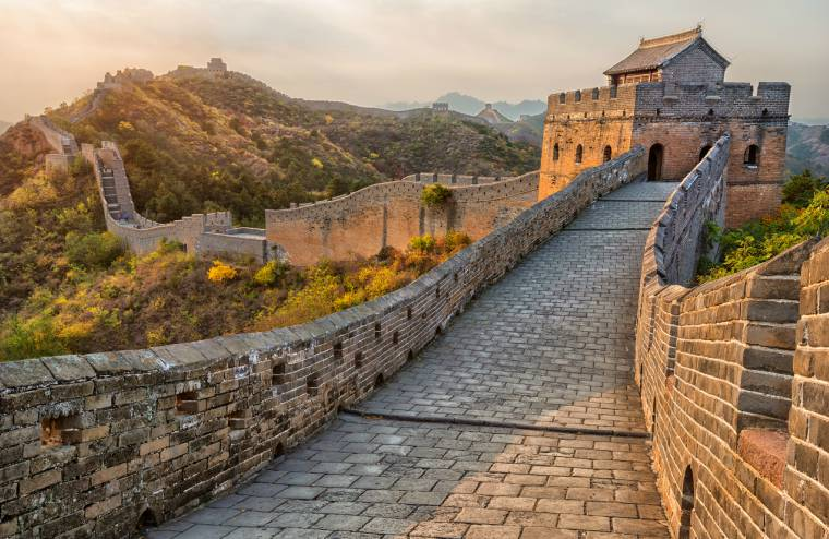 The Great Wall of China, one of the seven wonders of the world