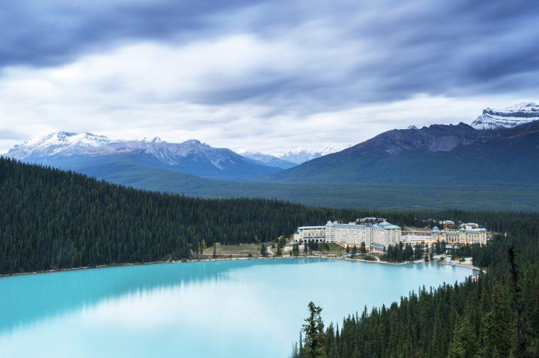 Lake Louise and Snow Mountains