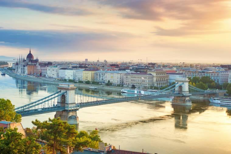 Budapest cityscape, Danube River