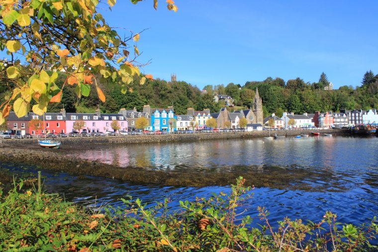Town Of Tobermory On The Isle Of Mull