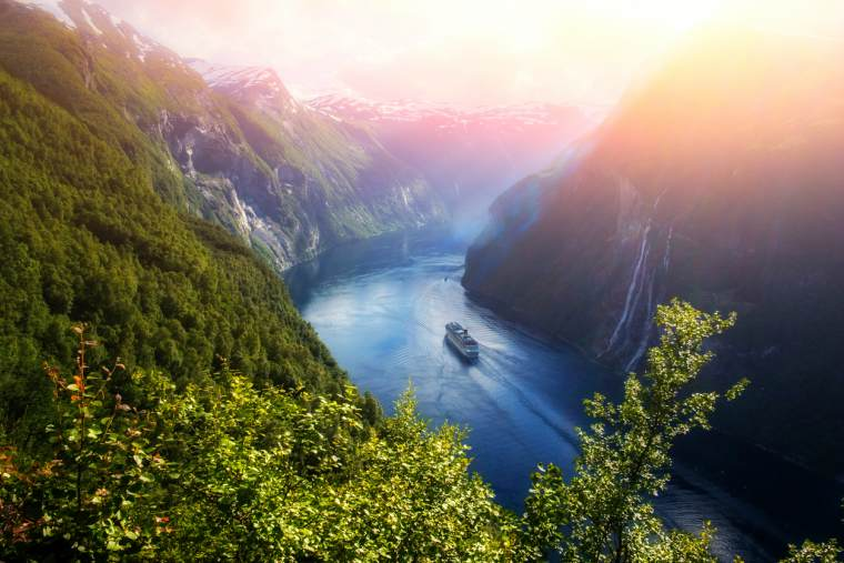View of Sunnylvsfjorden fjord, Norwegain Fjords