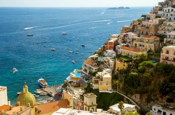 Positano town on the Amalfi Coast in Italy