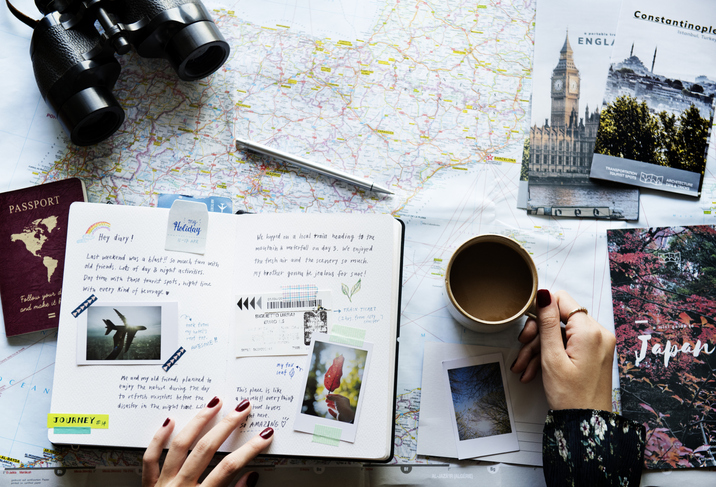 Planning travels with map