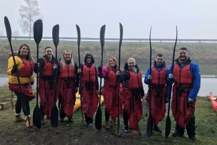 Kayaking shore excursion in Olden