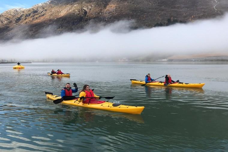 Kayaking on the Nordfjord