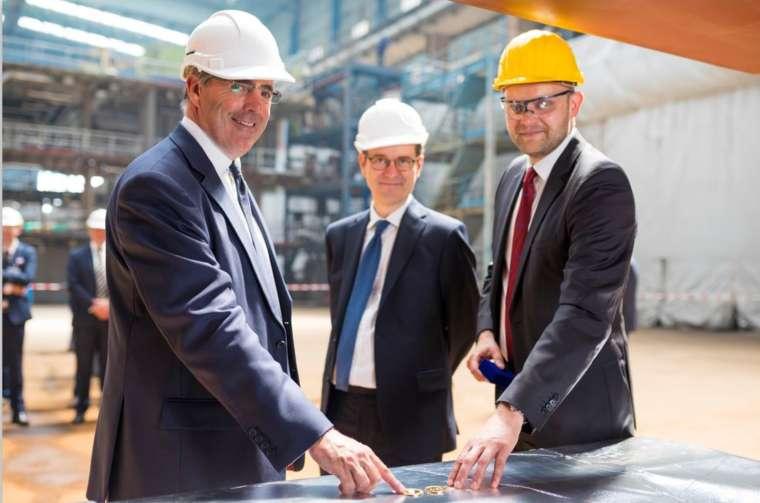 Lance, Sebastian & Meyer Werft Keel Laying of Saga Cruises' Spirit of Discovery