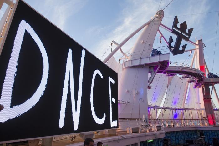DNCE on board Royal Caribbean Oasis of the Seas