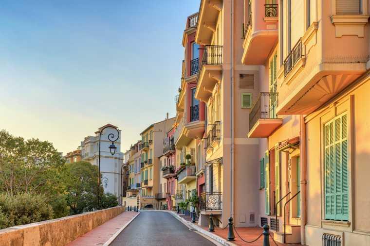 Monaco Ville's colorful buildings - Monte Carlo, Monaco