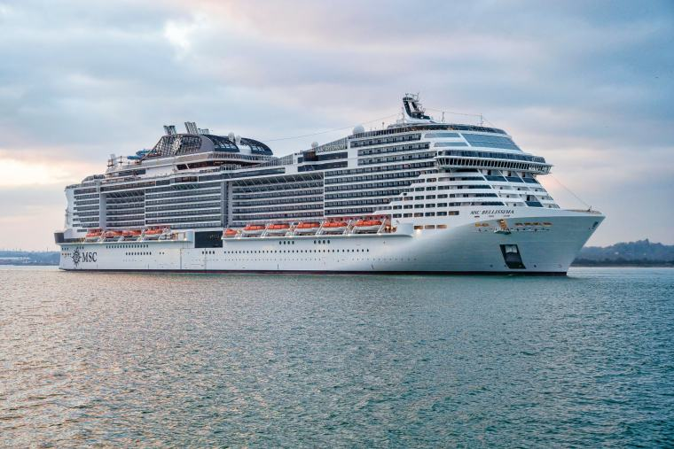 MSC Bellissima in Southampton for her christening