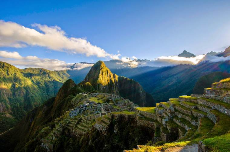 Natural wonder and World Heritage Site of Machu Picchu, Andes.