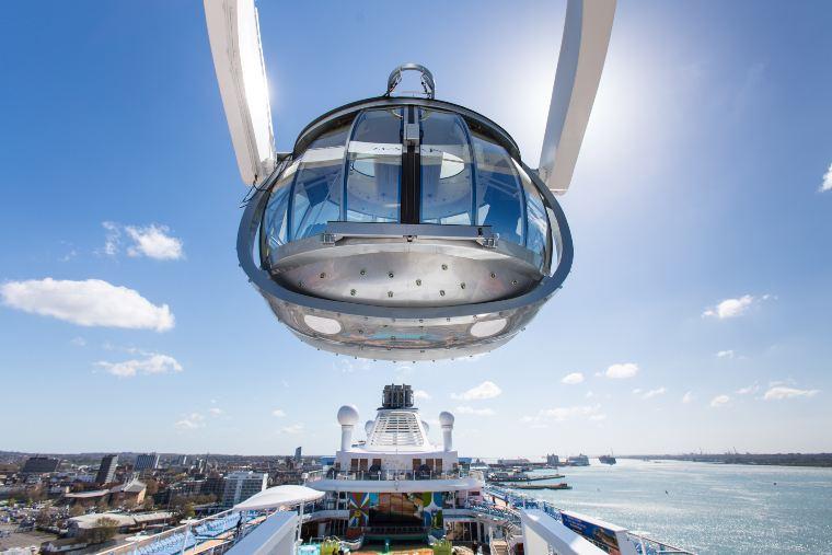 North Star on Royal Caribbean cruise ship