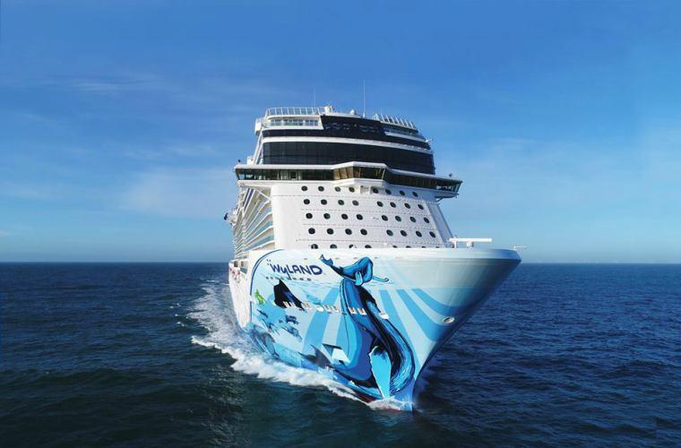 Norwegain Cruise Line's Norwegian Bliss at sea