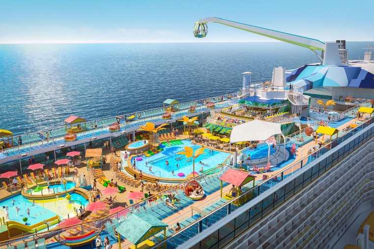 Odyssey of the Seas Pool Deck Aerial