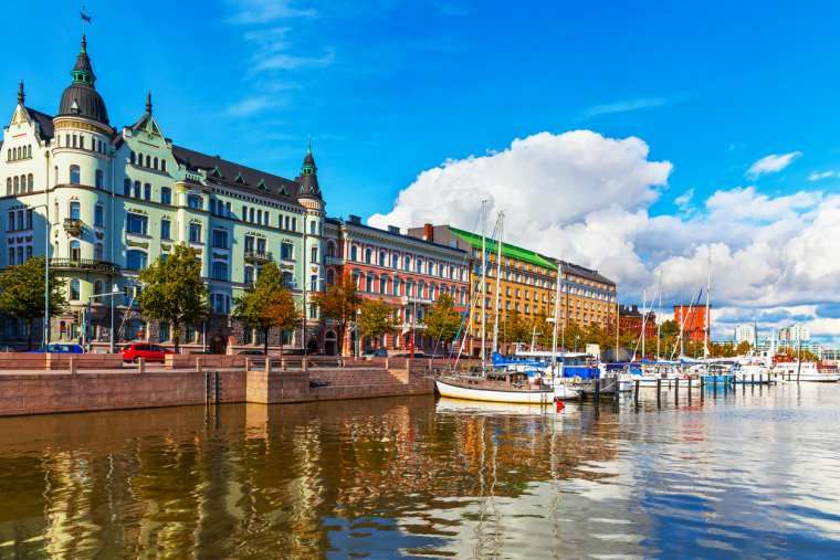 Old Town pier in Helsinki, Finland, Baltic cruise itinerary