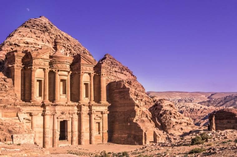 Petra monastery, famous landmark in Jordan