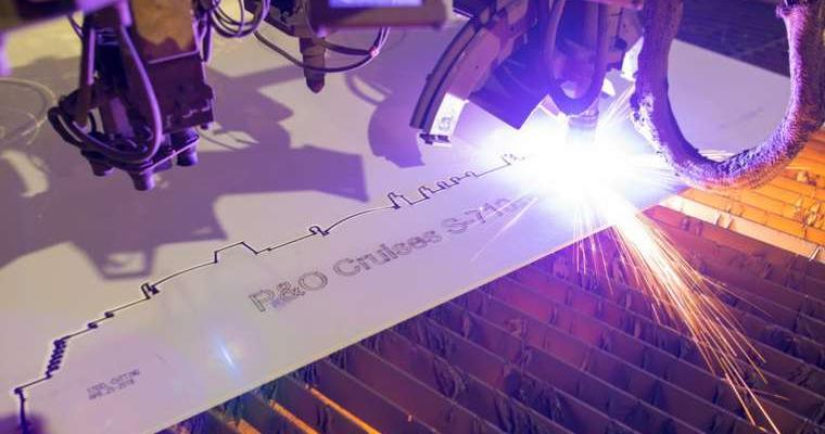 P&O Cruises New Ship Steel Cutting