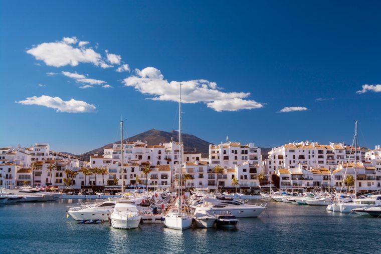 Puerto Banus harbour in Andalusia, Spain