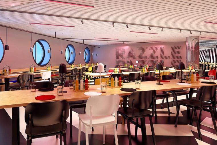 Razzle Dazzle eatery on Scarlet Lady