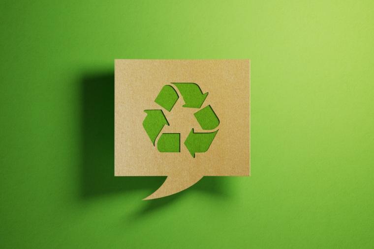 Recycle logo, environmentally friendly