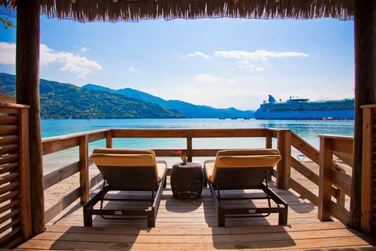 Royal Caribbean private Caribbean island Labadee cabanas