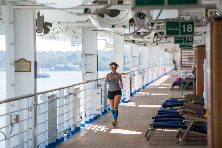 Keep fit at sea on the running track on Sapphire Princess