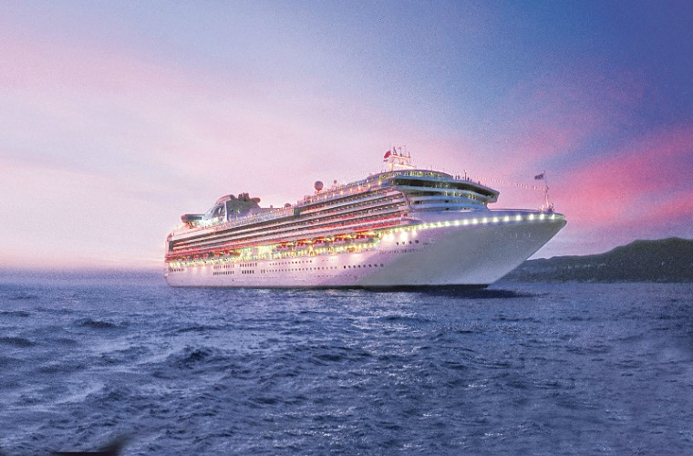 Sapphire Princess at dusk, Princess Cruises