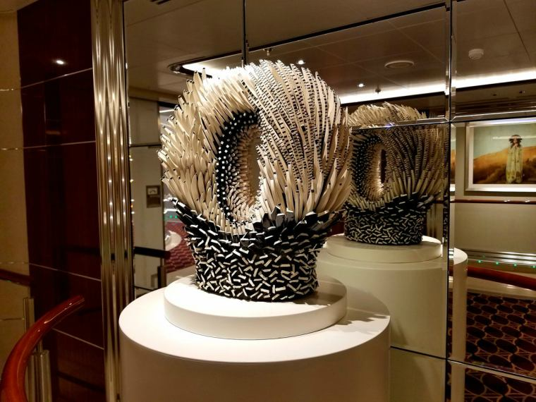A piece of artwork on board Seabourn Ovation