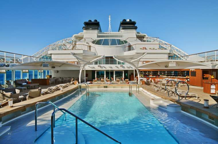 Seabourn Ovation pool by day