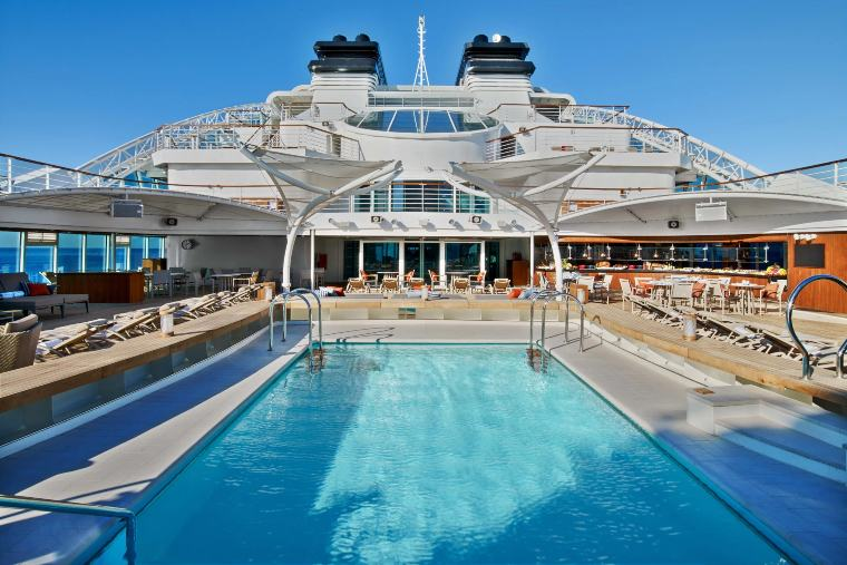 Seabourn Ovation pool deck view