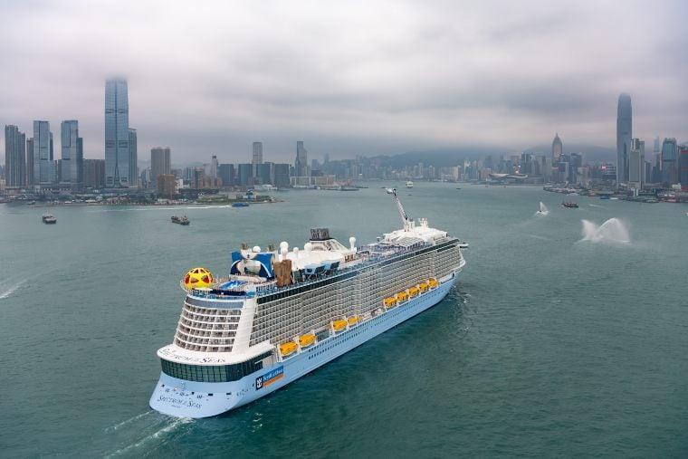 Spectrum of the Seas arrival in Hong Kong