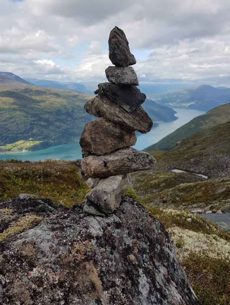Stacking stones (commonly known as Cairns) at Olden