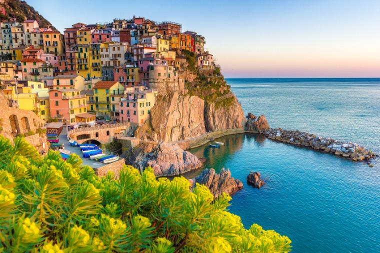 Sunset in Manarola, Cinque Terre, Amalfi Coast