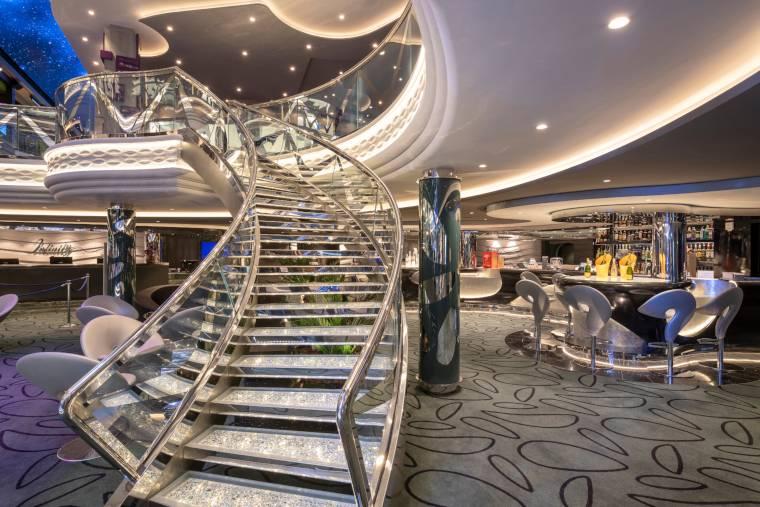 Swarovski crystal staircase on MSC Bellissima