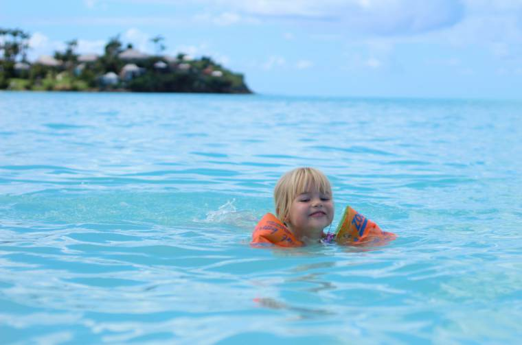 Swimming in the sea at St Lucia, Caribbean cruises