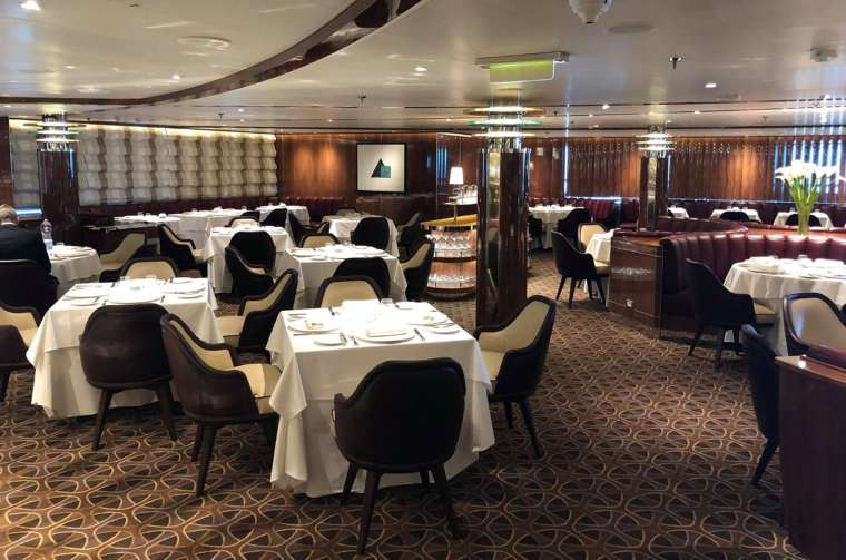 The Grill restaurant on Seabourn Ovation