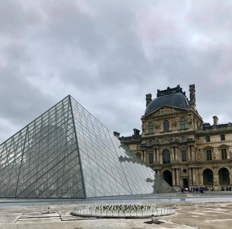 View of the the Louvre, Paris