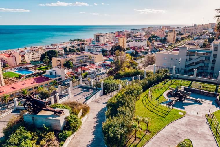 View of Torremolinos coast. Malaga, Spain