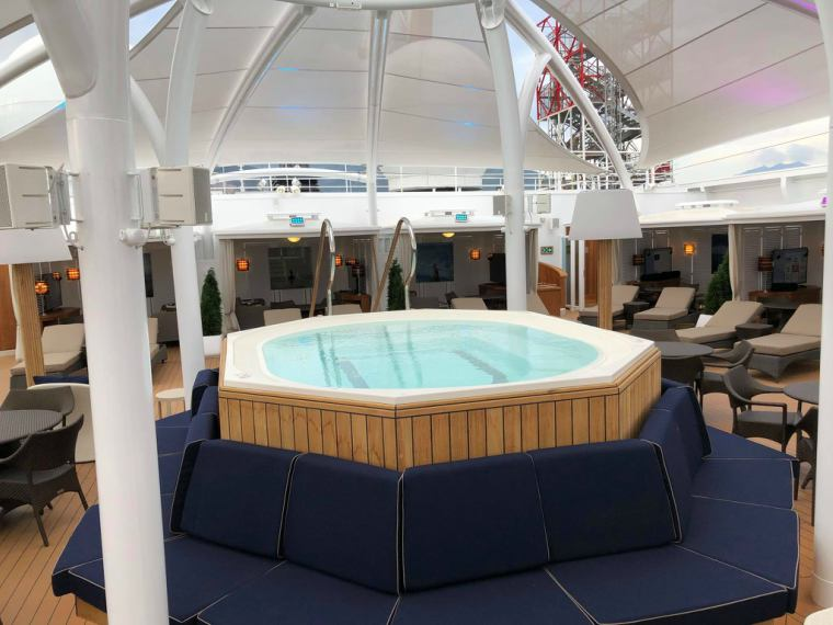 View of the The Retreat pool on board Seabourn Ovation