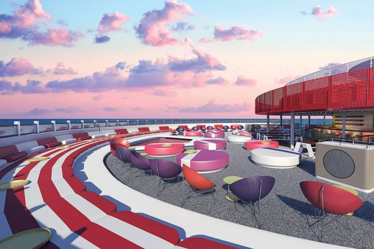 Virgin Voyages and design features by Concrete Amsterdam