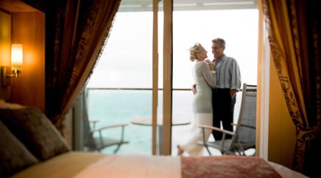 Deluxe Ocean View Stateroom with Veranda (Obstructed View) – [2C]