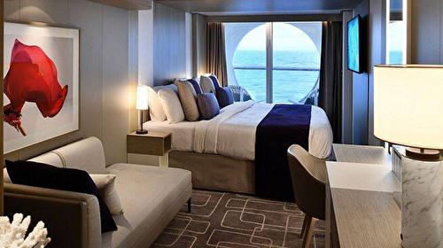 Deluxe Ocean View Stateroom with Veranda – [1B]