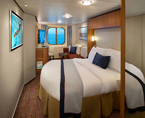 Large Ocean View Stateroom with Veranda – [FV]