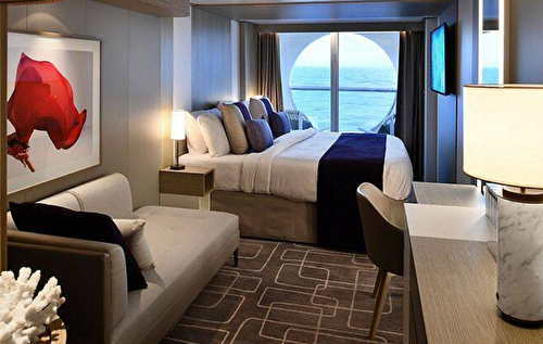 Deluxe Ocean View Stateroom with Veranda – [SV]