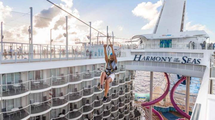 Harmony of the Seas zip wire