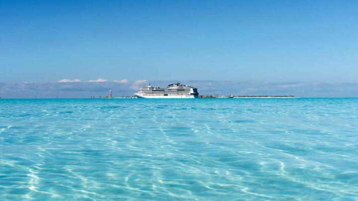 MSC Cruises ship in the Bahamas, Ocean Cay